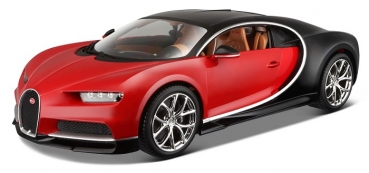 11040R BUGATTI CHIRON RED/BLACK 1:18