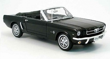 12519CBK Ford Mustang Cabrio 1964 1/2 black 1:18