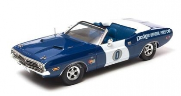 12871 Dodge Challenger Convertible - 1971 Ontario Motor Speedway Pace Car 1:18