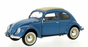 18040BL VW Käfer Brezelfenster 1950 light blue 1:18