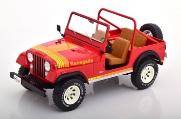 18110 Jeep CJ-7 Renegade 1976 red 1:18