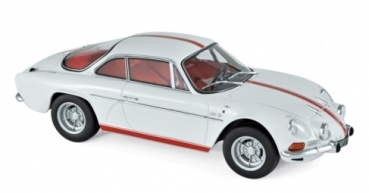 185303 Alpine Renault A110 1600S 1971 White with Red stripping 1:18