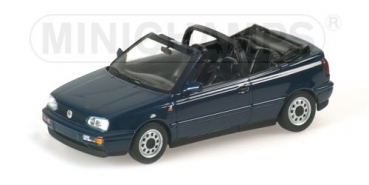 400055530 VOLKSWAGEN GOLF CABRIOLET - 1993 - DARK BLUE METALLIC 1:43
