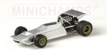 400700099 FORD DE TOMASO 505/38 - 1970 - PRESENTATION POLISHED ALUMINIUM BODY 1:43