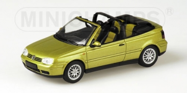 430058334 VOLKSWAGEN GOLF CABRIOLET - 1999 - GOLD METALLIC 1:43