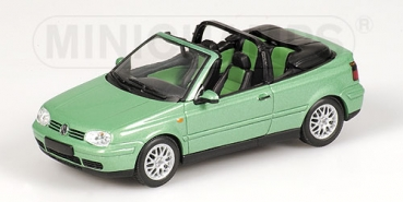 430058335 VOLKSWAGEN GOLF CABRIOLET - 1999 - GREEN METALLIC 1:43