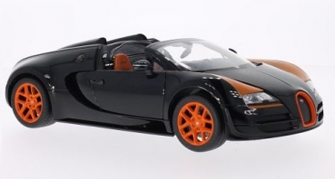 43900BK 2014 Bugatti Grand Sport Vitesse, black/orange 1:18