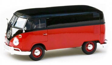 79342R VW T1 Transpoprter red/black 1:24