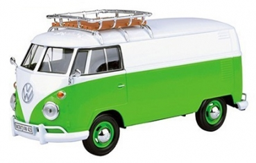 79551 VW T1 DELIVERY VAN + ROOF RACK GREEN/WHITE 1:24