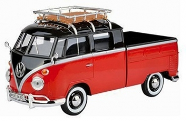 79552 VW T1 PICKUP + ROOF RACK RED/BLACK 1:43