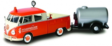 79674 VW T1 SERVICE PICK UP + OIL TANK TRAILER 1:24