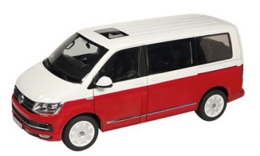 9541/10 Volkswagen T6 Multivan Generation Six red/white 1:18
