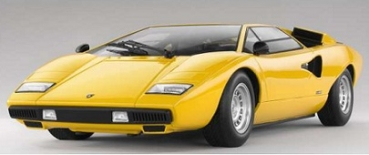 9531Y  LAMBORGHINI COUNTACH LP400 1974 Yellow 1:18