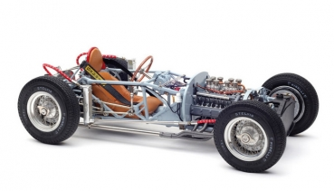 M198 Lancia D50, 1955 Rolling Chassis inkl. Bodenplatte 1:18