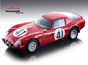 TM1865B Alfa Romeo Guilia TZ2 24h Le Mans 1965 #41 Driven by: Roberto Bussinello/Jean Rolland - Limited Edition 100 pcs. 1:18
