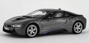 91051 BMW i8 2013, sophisto grey with blue matt 1:43