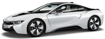 91052 BMW i8 2013, christal white with frozen grey 1:43