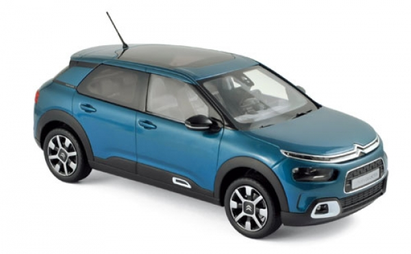 181660 Citroën C4 Cactus 2018 - Emeraude Blue & White deco 1:18