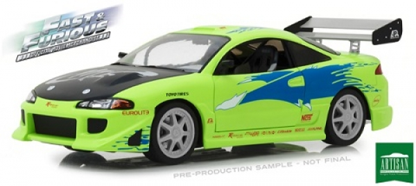 19039 The Fast and the Furious (2001) - 1995 Mitsubishi Eclipse 1:18