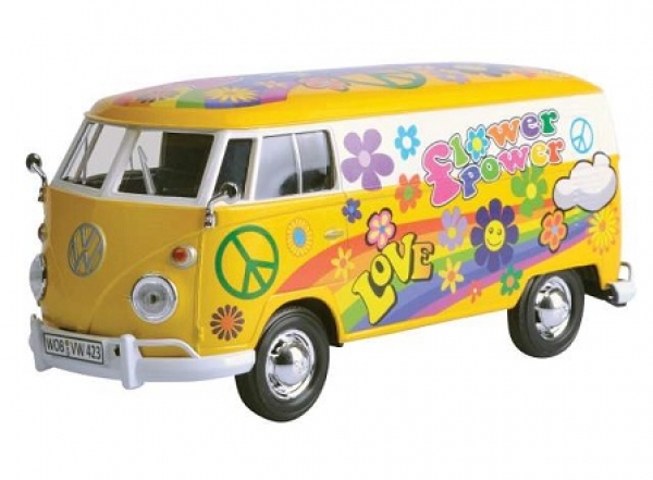 79575 VW T1 DELIVERY VAN FLOWER POWER 1:24