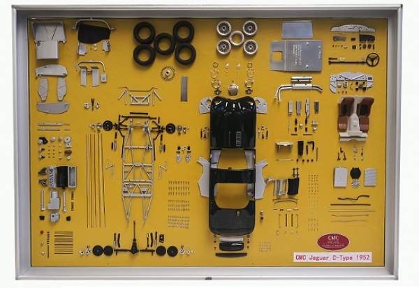 A016 CMC Jaguar C-Type parts display board, Limited Edition 300 pcs. 1:18