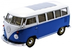 22095BL VW T1 Bus 1962 blue/white 1:24