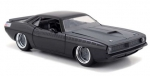 97195 1970 Plymouth Lettys Barracuda Fast and Furious black 1:24