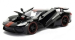 99388BK Ford GT 2017 black with red stripes 1:24