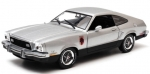 12890 1976 Ford Mustang II Stallion - Silver & Black 1:18