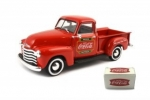 478104 1953 Chevy Pickup with metal cooler 1:43