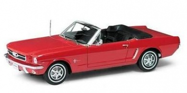 12519CR Ford Mustang Cabrio 1964 1/2 red 1:18