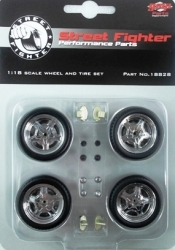 18828 Street Fighter Mag Wheel & Tire Pack 1:18