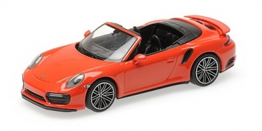410067181 PORSCHE 911 (991.2) TURBO S CABRIOLET – 2017 – ORANGE 1:43