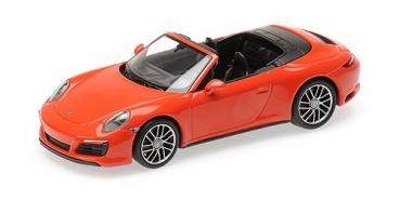 410067231 PORSCHE 911 (991.2) CARRERA 4S CABRIOLET – 2017 – ORANGE 1:43
