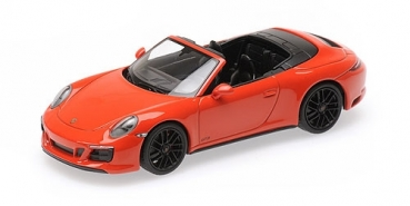 410067331 PORSCHE 911 (991.2) CARRERA 4GTS CABRIOLET - 2017 - ORANGE 1:43