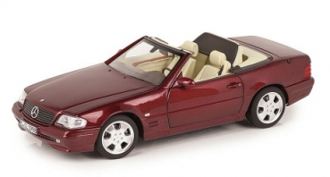 B66040658 Mercedes-Benz SL 500 R129 (Facelift 1998) amber red 1:18