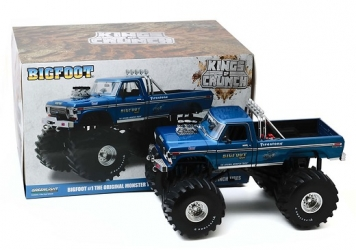 13541 Kings of Crunch - Bigfoot #1 - 1974 Ford F-250 Monster Truck with 66-Inch Tires 1:18