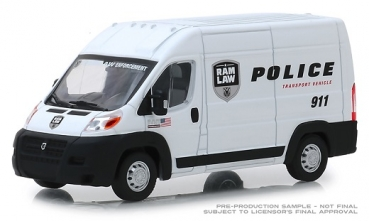 86168  2018 Ram ProMaster 2500 Cargo High Roof - Ram Law Enforcement Police Transport Vehicle 1:43