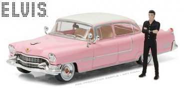 86436 Elvis Presley (1935-77) - 1955 Cadillac Fleetwood Series 60 Pink Cadillac with Elvis Presley Figure 1:43