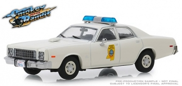 86557 Smokey and the Bandit (1977) - 1975 Plymouth Fury Mississippi Highway Patrol 1:43