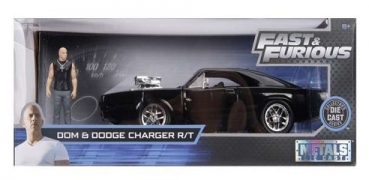 30737  1970 Dodge Charger Fast and Furious, black & Dom figure 1:24