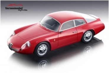 TM1871A Alfa Romeo Giulietta SZ Coda Tronca 1963 Street Version Red - Limited Edition 120 pcs. 1:18