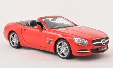 18046CR Mercedes SL 500 (R231) Cabrio, red 1:18