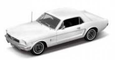 12519HW 1964 1/2 Ford Mustang Coupe white 1:18