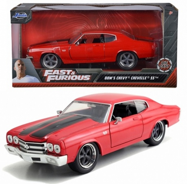 Modellautos Förster Gmbh 253203009 Dom S Chevrolet Chevelle Ss 1970 Red With Black Stripes Fast Furious 1 24