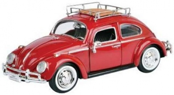 79559 VW KÄFER WITH LUGGAGE RACK 1966 RED 1:24